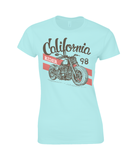 California Rider - Gildan Ladies Premium Cotton T-Shirt