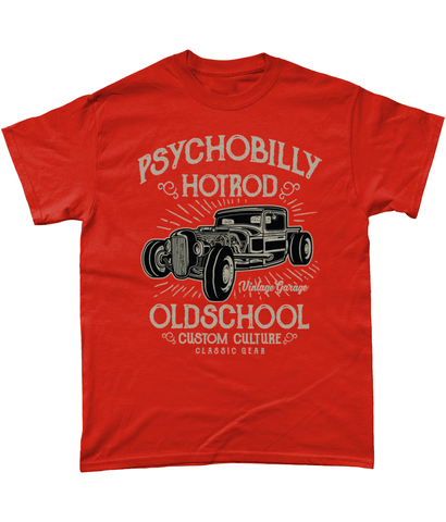Psychobilly Hotrod – Gildan Heavy Cotton T-Shirt - Biker T-Shirts UK