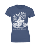 Brat Women White – Gildan Ladies Premium Cotton T-Shirt - Biker T-Shirts UK