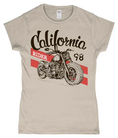 California Rider - Gildan SoftStyle® Ladies Fitted Ringspun T-Shirt