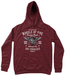 Wheels Of Fire – AWDis Girlie College Hoodie - Biker T-Shirts UK