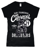 Cafe Racer V2 – Gildan SoftStyle® Ladies Fitted Ringspun T-Shirt - Biker T-Shirts UK