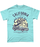 California West Coast – Gildan Heavy Cotton T-Shirt - Biker T-Shirts UK
