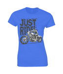 Biker Girl Black - Gildan Ladies Premium Cotton T-Shirt - Biker T-Shirts UK