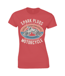 Spark Plugs – Gildan Ladies Premium Cotton T-Shirt - Biker T-Shirts UK