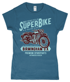 SuperBike – Gildan SoftStyle® Ladies Fitted Ringspun T-Shirt - Biker T-Shirts UK