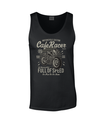 Cafe Racer v1 – Gildan SoftStyle® Tank Top - Biker T-Shirts UK