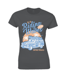 Riding The Waves – Gildan Ladies Premium Cotton T-Shirt - Biker T-Shirts UK