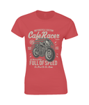 Cafe Racer v1 – Gildan Ladies Premium Cotton T-Shirt - Biker T-Shirts UK