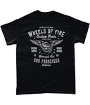 Wheels Of Fire – Gildan Heavy Cotton T-Shirt - Biker T-Shirts UK