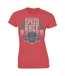 Speed Race – Gildan Ladies Premium Cotton T-Shirt - Biker T-Shirts UK
