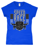 Speed Race – Gildan SoftStyle® Ladies Fitted Ringspun T-Shirt - Biker T-Shirts UK