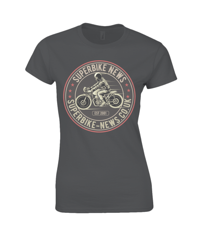 Superbike News - Gildan Ladies Premium Cotton T-Shirt - Biker T-Shirts UK
