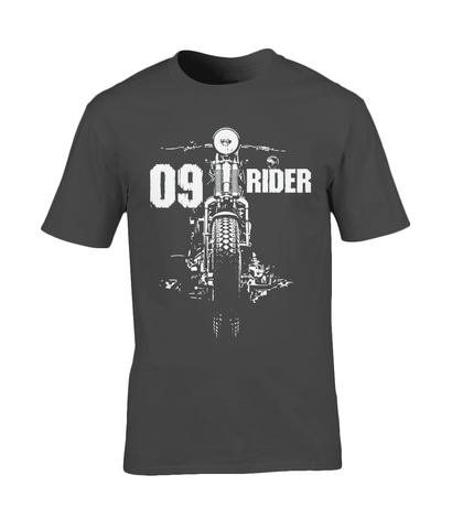 09 Rider – Gildan Premium Cotton T-Shirt - Biker T-Shirts UK