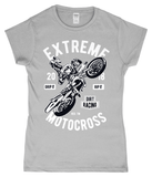 Extreme Motocross – Gildan SoftStyle® Ladies Fitted Ringspun T-Shirt - Biker T-Shirts UK