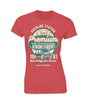Limited Edition – Premium Garage – Gildan Ladies Premium Cotton T-Shirt - Biker T-Shirts UK