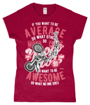 Awesome Motocross – Gildan SoftStyle® Ladies Fitted Ringspun T-Shirt - Biker T-Shirts UK