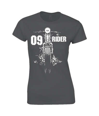 09 Rider – Gildan Ladies Premium Cotton T-Shirt - Biker T-Shirts UK