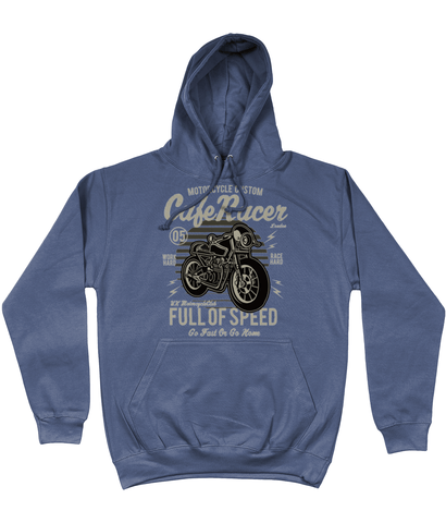 Cafe Racer v1 – AWDis College Hoodie - Biker T-Shirts UK