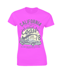 California West Coast – Gildan Ladies Premium Cotton T-Shirt - Biker T-Shirts UK