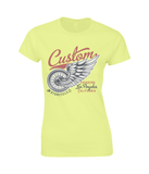 Custom – Gildan Ladies Premium Cotton T-Shirt - Biker T-Shirts UK