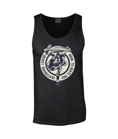 Skateboard Legend – Gildan SoftStyle® Tank Top - Biker T-Shirts UK