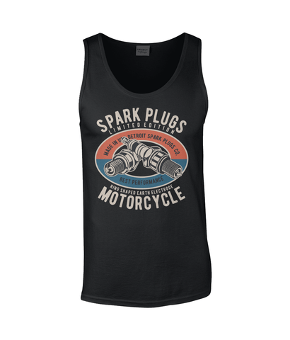 Spark Plugs – Gildan SoftStyle® Tank Top - Biker T-Shirts UK