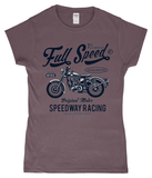 Full Speed – Gildan SoftStyle® Ladies Fitted Ringspun T-Shirt - Biker T-Shirts UK