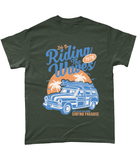 Riding The Waves – Gildan Heavy Cotton T-Shirt - Biker T-Shirts UK