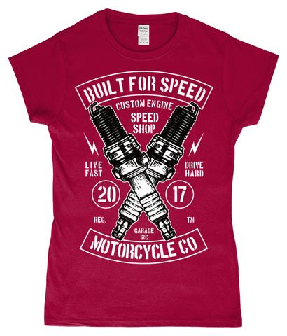 Built For Speed - Gildan SoftStyle® Ladies Fitted Ringspun T-Shirt