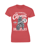 Cafe Racer V2 – Gildan Ladies Premium Cotton T-Shirt - Biker T-Shirts UK