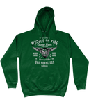 Wheels Of Fire – AWDis College Hoodie - Biker T-Shirts UK