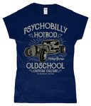 Psychobilly Hotrod – Gildan SoftStyle® Ladies Fitted Ringspun T-Shirt - Biker T-Shirts UK