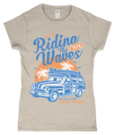 Riding The Waves – Gildan SoftStyle® Ladies Fitted Ringspun T-Shirt - Biker T-Shirts UK