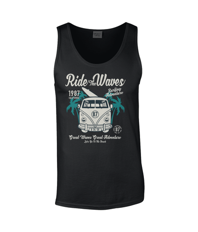 Ride The Waves – Gildan SoftStyle® Tank Top - Biker T-Shirts UK