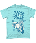 Ride And Surf – Gildan Heavy Cotton T-Shirt - Biker T-Shirts UK