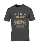 LA Hot Rods – Gildan Premium Cotton T-Shirt - Biker T-Shirts UK