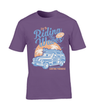 Riding The Waves – Gildan Premium Cotton T-Shirt - Biker T-Shirts UK