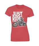 Biker Girl White – Ladies Premium Cotton T-Shirt - Biker T-Shirts UK