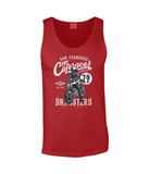 Cafe Racer v2 – Gildan SoftStyle Tank Top - Biker T-Shirts UK