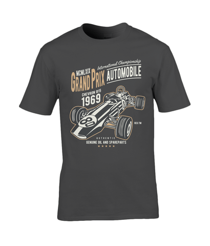 Grand Prix – Gildan Premium Cotton T-Shirt - Biker T-Shirts UK