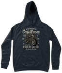 Cafe Racer v1 – AWDis Girlie College Hoodie - Biker T-Shirts UK