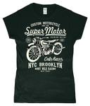 Super Motor – Gildan SoftStyle® Ladies Fitted Ringspun T-Shirt - Biker T-Shirts UK