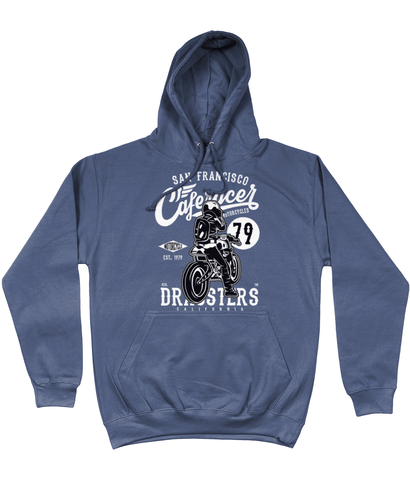 Cafe Racer v2 – AWDis College Hoodie - Biker T-Shirts UK