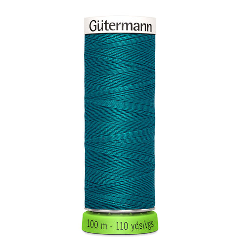 100 m Reel Gütermann Recycled Sew-All Thread in Teal Blue no. 189
