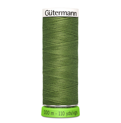 100 m Reel Gütermann Recycled Sew-All Thread in Olive Green no. 283