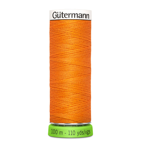 100 m Reel Gütermann Recycled Sew-All Thread in Orange no. 350