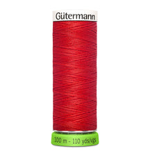 Load image into Gallery viewer, 100 m Reel Gütermann Recycled Sew-All Thread in red, no. 364