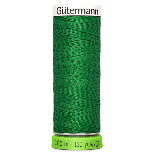 100 m Reel Gütermann Recycled Sew-All Thread in Grass Green no. 396
