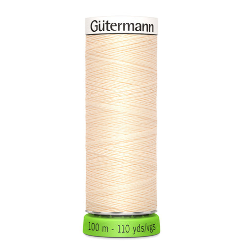 100 m Reel Gütermann Recycled Sew-All Thread in Cream, no. 414
